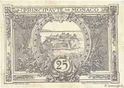 25 Centimes MONACO  1921 P.02b TB+