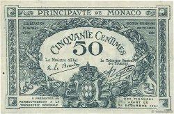 50 Centimes MONACO  1920 P.03a TTB