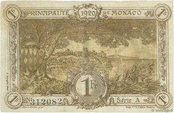 1 Franc MONACO  1920 P.04a TTB