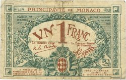 1 Franc MONACO  1920 P.05 B