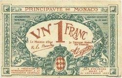 1 Franc MONACO  1920 P.05 pr.TTB