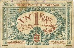 1 Franc MONACO  1920 P.05 B+
