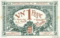 1 Franc MONACO  1920 P.05 SUP à SPL