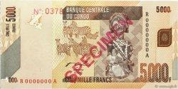 5000 Francs CONGO  2012 P.102s NEUF