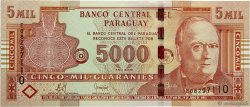 5000 Guaranies PARAGUAY  2008 P.New NEUF