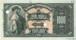 1000 Korun TCHÉCOSLOVAQUIE  1919 P.013s SPL