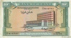 10 Shillings GHANA  1958 P.01a TTB