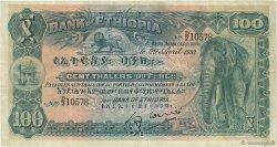 100 Thalers ÉTHIOPIE  1933 P.10 TB+