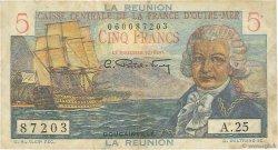 5 Francs Bougainville ÎLE DE LA RÉUNION  1946 P.41a TB