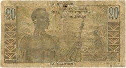 20 Francs E.Gentil ÎLE DE LA RÉUNION  1946 P.43a B