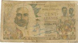 100 Francs La Bourdonnais ÎLE DE LA RÉUNION  1946 P.45a pr.B