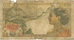 100 Francs La Bourdonnais ÎLE DE LA RÉUNION  1960 P.49a AB