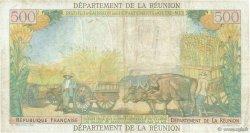 10 Nouveaux Francs sur 500 Francs Pointe à Pitre ÎLE DE LA RÉUNION  1971 P.54b TB