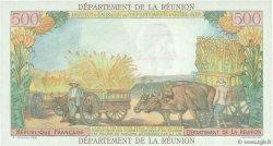 10 NF sur 500 Francs Pointe à Pitre ÎLE DE LA RÉUNION  1971 P.54b SPL+