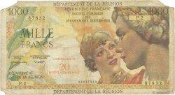 20 NF sur 1000 Francs Union Française ÎLE DE LA RÉUNION  1971 P.55b B