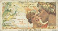 20 NF sur 1000 Francs Union Française ÎLE DE LA RÉUNION  1971 P.55b TB