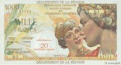 20 NF sur 1000 Francs Union Française ÎLE DE LA RÉUNION  1971 P.55b TTB+
