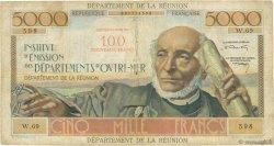 100 NF sur 5000 Francs Schoelcher ÎLE DE LA RÉUNION  1971 P.56b B