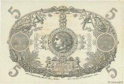 5 Francs Cabasson rouge GUADELOUPE  1943 P.07c SPL+