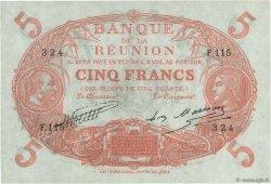 5 Francs Cabasson rouge ÎLE DE LA RÉUNION  1930 P.14 pr.NEUF