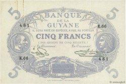 5 Francs Cabasson bleu GUYANE  1946 P.01e SUP