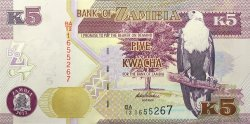 5 Kwacha ZAMBIE  2012 P.50 NEUF