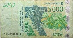 5000 Francs SÉNÉGAL  2005 P.717Kc TB