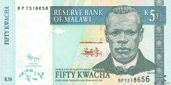 50 Kwacha MALAWI  2009 P.53d NEUF
