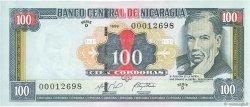 100 Cordobas NICARAGUA  1999 P.190 pr.NEUF