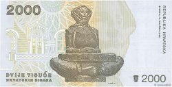 2000 Dinara CROATIE  1992 P.23a NEUF