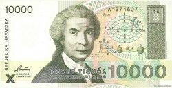10000 Dinara CROATIE  1992 P.25a NEUF