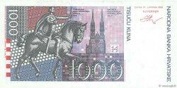 1000 Kuna CROATIE  1993 P.35a SPL