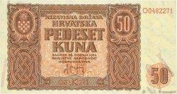 50 Kuna CROATIE  1941 P.01 SPL+
