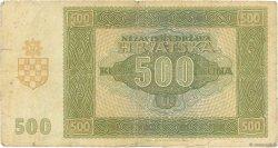 500 Kuna CROATIE  1941 P.03 TB