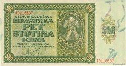 500 Kuna CROATIE  1941 P.03 SPL