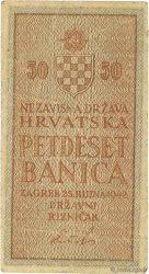 50 Banica CROATIE  1942 P.06 TB