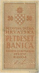 50 Banica CROATIE  1942 P.06 TTB