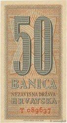 50 Banica CROATIE  1942 P.06 NEUF