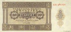 20 Kuna CROATIE  1944 P.09 NEUF