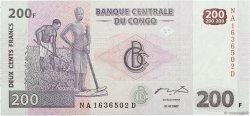 200 Francs CONGO (RÉPUBLIQUE)  2007 P.099 NEUF