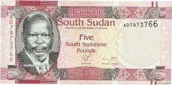 5 Pounds SOUDAN DU SUD  2011 P.06 NEUF