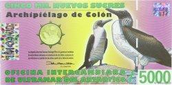 5000 Nouveaux Sucres ÎLES GALAPAGOS  2009 P.- NEUF