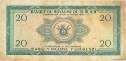 20 Francs BURUNDI  1965 P.10 TB