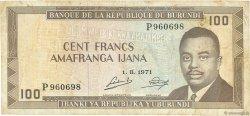 100 Francs BURUNDI  1971 P.23b TB