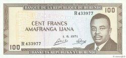 100 Francs BURUNDI  1971 P.23b NEUF