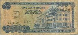 500 Francs BURUNDI  1977 P.30a B+
