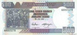 500 Francs BURUNDI  1997 P.38a SPL