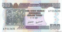 500 Francs BURUNDI  2009 P.45 NEUF