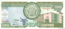5000 Francs BURUNDI  1999 P.42a SPL