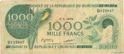 1000 Francs BURUNDI  1979 P.31a TB